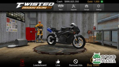 Скриншот Twisted: Dragbike Racing №1