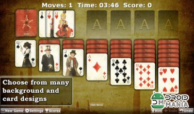 Скриншот Solitaire Double-Deck HD №1
