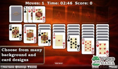 Скриншот Solitaire Double-Deck HD №3