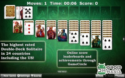 Скриншот Solitaire Double-Deck HD №4