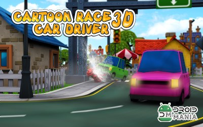 Скриншот Cartoon Race 3D Car Driver №1