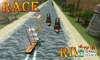 Скриншот Turbo River Racing Ship 3D №1