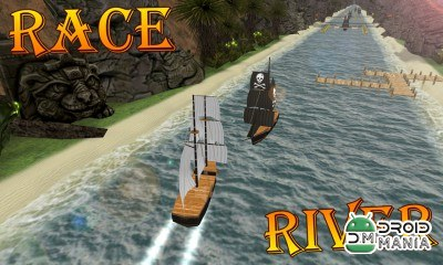 Скриншот Turbo River Racing Ship 3D №2