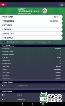 Скриншот Fantasy Premier League 2015/16 №2
