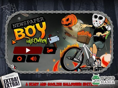 Скриншот Newspaper Boy Halloween night №1