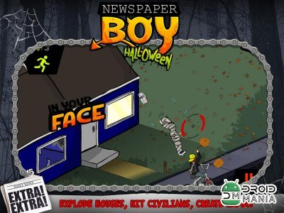 Скриншот Newspaper Boy Halloween night №2