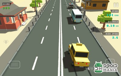 Скриншот Blocky Traffic Racer №1
