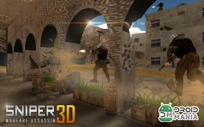 Скриншот Sniper Warfare Assassin 3D №3