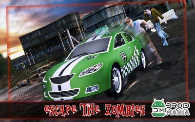 Скриншот Zombie Escape Driving 3D №3