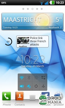 Скриншот Xperia S Home Launcher №1