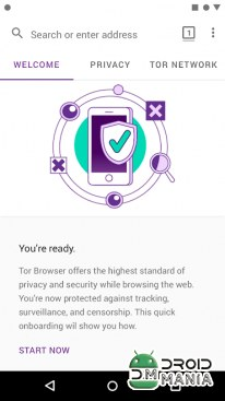 Скриншот Tor Browser for Android №2
