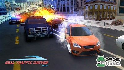 Скриншот Real Traffic Driver Online 2018 №2