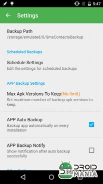 Скриншот Super Backup Pro: SMS&Contacts №3