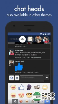 Скриншот Swipe for Facebook Pro №4