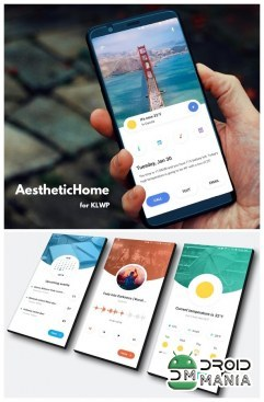 Скриншот AestheticHome for KLWP №1