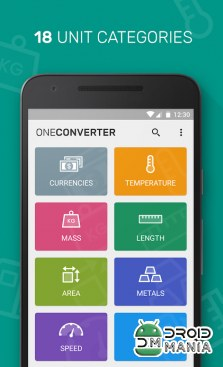 Скриншот One Unit Converter & Currency №3