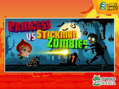 Скриншот Princess vs Stickman Zombies №1