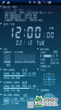 Скриншот Device Info Live Wallpaper №1