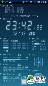 Скриншот Device Info Live Wallpaper №2