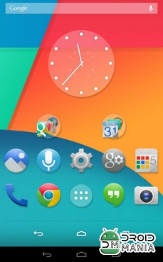 Скриншот Ultimate KitKat Experience Launcher Theme №1
