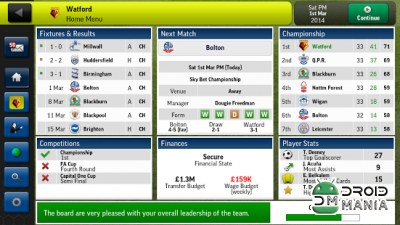 Скриншот Football Manager Handheld 2014 №1