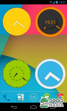 Скриншот Wow KitKat Clock Widgets №1