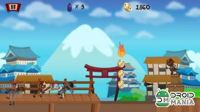 Скриншот Stickman Samurai Warrior Game №1