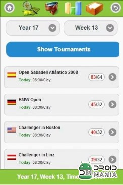 Скриншот Online Tennis Manager Game №1