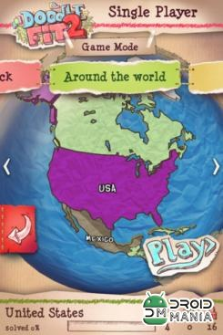 Скриншот Doodle Fit 2: Around the World №1