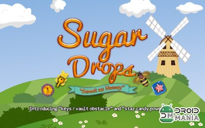 Скриншот Sugar Drops - Match 3 puzzle №1