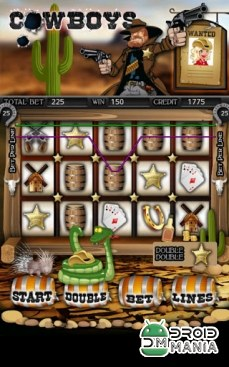 Скриншот Cowboys Slot Machine HD №1