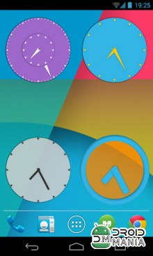 Скриншот Wow KitKat Clock Widgets №2