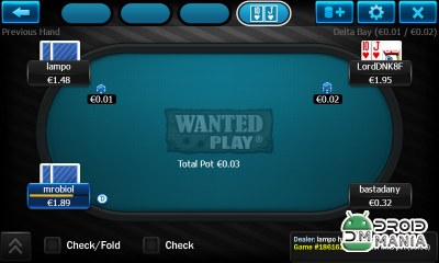 Скриншот WantedPlay Poker Android №2