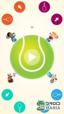 Скриншот Circular Tennis 2 Player Games №2