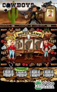 Скриншот Cowboys Slot Machine HD №3