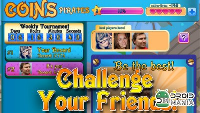 Скриншот Coins Pirates: Match 3 in row №3