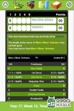 Скриншот Online Tennis Manager Game №3