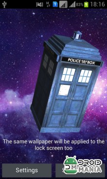 Скриншот TARDIS 3D Live Wallpaper №4
