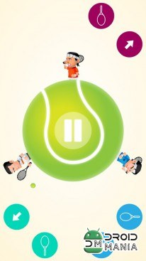 Скриншот Circular Tennis 2 Player Games №4
