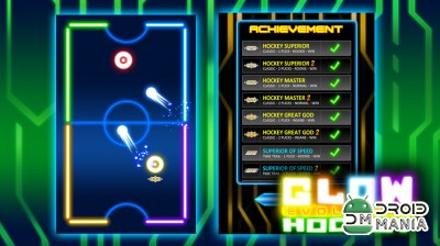 Скриншот Glow Hockey 2 (Эволюция) / Glow Hockey 2 (Evolution) №4