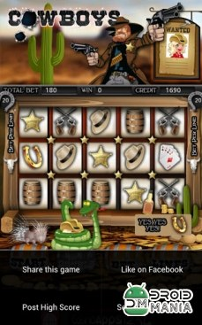 Скриншот Cowboys Slot Machine HD №4