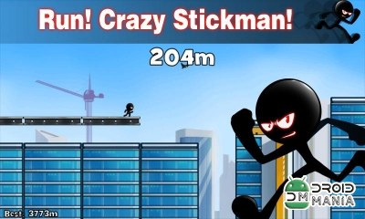 Скриншот Stickman Roof Running №2
