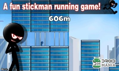Скриншот Stickman Roof Running №3