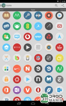 Скриншот Flatee - Icon Pack №1