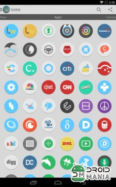 Скриншот Flatee - Icon Pack №2