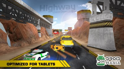 Скриншот HIGHWAY CHASE DOWN 3D №2