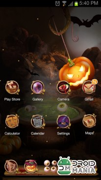 Скриншот Next Launcher Theme Halloween (Unlocked) №3