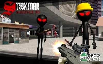 Скриншот Stickman Shooter 3D №1