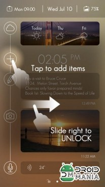 Скриншот Timeline GO Locker Theme (Unlocked) №4