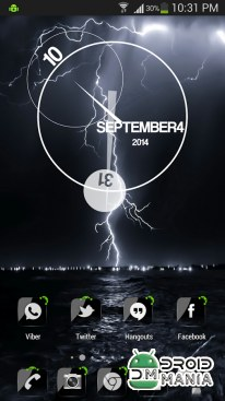 Скриншот ADW Theme Crystal Black HD №3